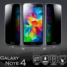 Privacy Anti-Spy Tempered Glass Screen Protector Shield For Samsung Galaxy NOTE4