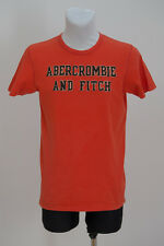 MENS ABERCROMBIE&FITCH T SHIRT SHORT SLEEVED ORANGE SIZE S SMALL VGC