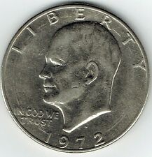 "1972-D Eisenhower Silver Dollar ""Circulated"" US Mint Coin Ike"