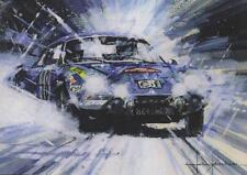 Alpine Renault A110 Monte Carlo Rally Classic Racing Car Christmas Xmas Card