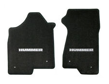 NEW! BLACK FLOOR MATS 2000-2006 HUMMER Embroidered Script Logo Pair see pictures