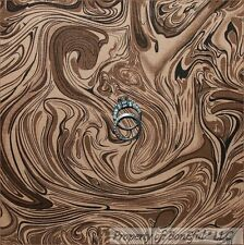 BonEful Fabric FQ Cotton Quilt Brown Dark Coffee Chocolate Swirl Blender Java Lg