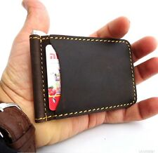 Genuine natural Leather man mini wallet Money id credit cards pocket small Money