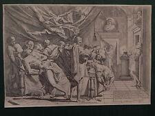 M Pietro Testa Lucchesino Suicidio catone Suicide Cato acquaforte originale 1730