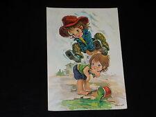 CARTE POSTALE - ENFANTS - L. VERNET - SAUTE MOUTONS - ANNEES 1980