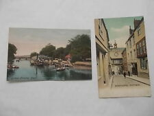 2 Vintage Coloured Postcards of Totnes In Devon - ALL are used & have stamps