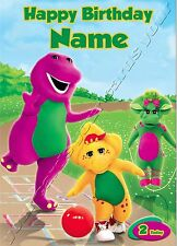 - BARNEY AND FRIENDS - IDEAL FOR DAUGHTER PERSONALISED CHILDREN'S BIRTHDAY CARD