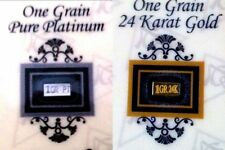 2 BARS ACB Gold & Platinum 1GRAIN Bullion Bars w/ Certificates of Authenticitys