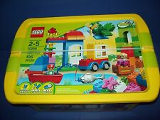 LEGO DUPLO 10556 CREATIVE CHEST Car Boat Fishing Blocks Age 2-5 NISB Retired