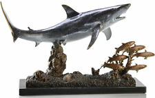 Great White Shark Statue Sculpture Brass Bronze by SPI Home 30969-Brand New!
