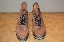 John Varvatos Men's Tan Leather Ankle Boots Size 7