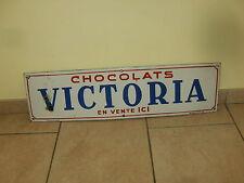 ULTRA RARE ancienne / vintage plaque émaillée Belge - chocolats VICTORIA - 1945