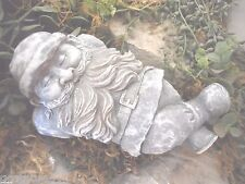 latex w backup snoozing gnome plaster concrete mold casting garden rubber mould