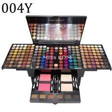 180 Colors MISS ROSE Eye Shadow 2 Powder 2 Blusher 6 Eyebrow Set Shimmer Natural