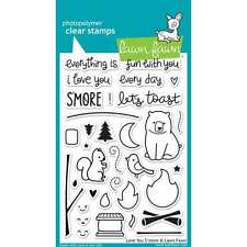 NEW LAWN FAWN LOVE YOU S'MORE CLEAR ACRYLIC STAMP SET