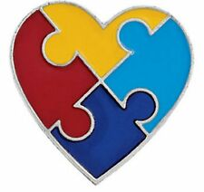 Autism Awareness Heart Lapel Pin NEW-More Autism Items in Store