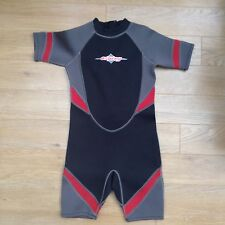 OSPRAY BLACK GREY AND RED TRIM WETSUIT WET SUIT - SURF/SURFING/SWIMMING/SWIM