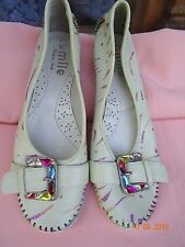 Emile designer Italy hand painted  comfort shoes pumps Mary Jane EU 37 US 7 £159