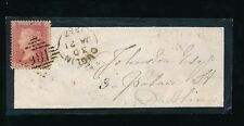 IRELAND 1862 MINIATURE MOURNING ENVELOPE...PENNY RED LCp14 ND