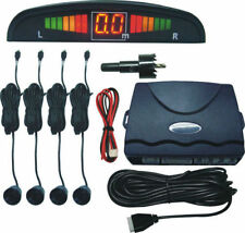 Car Reverse Parking 4 Sensor Security Led Display BLACK With Buzzer & Display.
