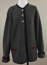 Geiger Of Austria Women's Brown Boiled Wool Cardigan/Jacket. Size 42.