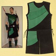Leather Armoured Archers Jerkin, Green - Perfect for Stage and Costume and Larp