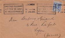 Lettre Ceylon Colombo pour la France 1934 Cover