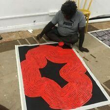 ABORIGINAL ART PAINTING by JAKE TJAPALTJARRI 'TINGARI CYCLE' Authentic, WIP