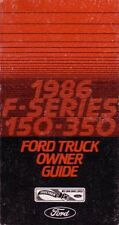 1986 Ford Truck Owners Manual User Guide Reference Operator Book