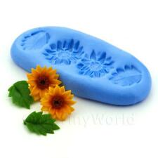 Dolls House Miniature Sunflower and Leaves Silicone Mould