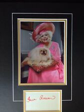 BARBARA CARTLAND - BEST SELLING NOVELIST - SIGNED COLOUR PHOTO DISPLAY