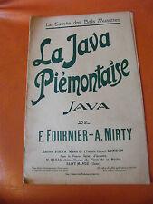Partition La Java Piémontaise E Fournier A Marty