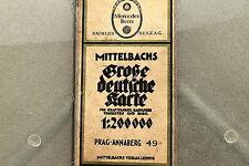23533 Mittelbachs Landkarte für Kraftfahrer Nr. 49 Prag Annaberg  Böhmen um 1930