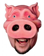 Latex Pig Boy Chinless Mask Halloween Adult One Size Funny Adult Mask fnt