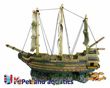 Aquarium Sail Ship Large Fish Tank Ornament 50cm