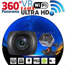 360° Spherical Panorama VR Video Sports Action Camera WiFi 4K Ultra HD Camcorder