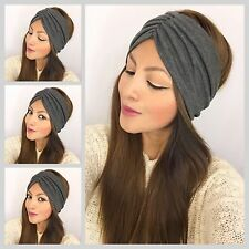 Winter Scrunch Style Wide Head wrap Warm And Strechy Turban Hair Band