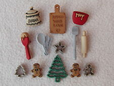 Dress IT UP pulsanti ~ NATALE COOKIE ~ Baking ~ TAGLIERINI ~ CIOTOLA ~ CUCCHIAI ~ ALBERO +