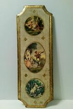 Vintage Italian Picture Frame Victorian style Tole Florentine Art Gold Gilt Wood