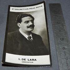 PHOTO IMAGE FELIX POTIN 3ème ALBUM 1920  I. DE LARA COMPOSITEUR MUSIQUE