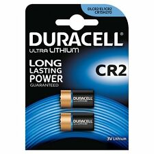 2 X Duracell Ultra Photo DLCR2 3V Lithium Batteries CR15H270/EL1CR2 Expiry 2024