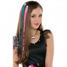 Monster High Halloween Costume Hot pink and Electric blue Hair Extensions 2ct