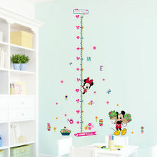 minnie mickey height measure wall stickers kids room gift decor vinyl decor