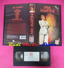 VHS MIA MARTINI Omonimo 1992 RICORDI VEDEO ORV 2007 60 minuti no mc dvd lp