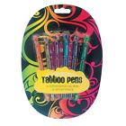 Temporary Tattoo Gel Pens Semi Permanent Body Glitter Henna Marker PACK OF 6--_-