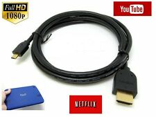 3M Micro HDMI to HDMI Cable for ASUS TRANSFORMER PAD Tablet to TV HDTV