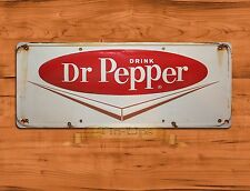"TIN-UPS TIN SIGN ""Dr Pepper White"" Rustic Cola Soda Wall Decor"