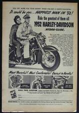 1952 Harley Davidson *It could be You...HAPPIEST man in 52* vintage AD