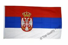 Serbia with coat of arms FLAG serbian Banner 90x150cm - 5ftx3ft