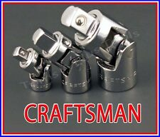 CRAFTSMAN HAND TOOLS 3pc 1/4 3/8 1/2 universal wobble ratchet flex joint set !!!